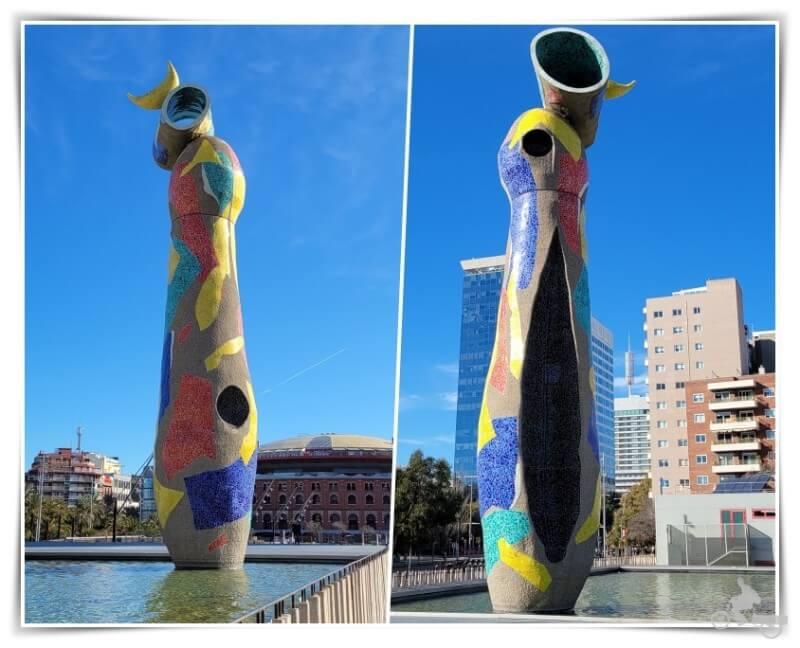 Dona i ocell de Joan Miró