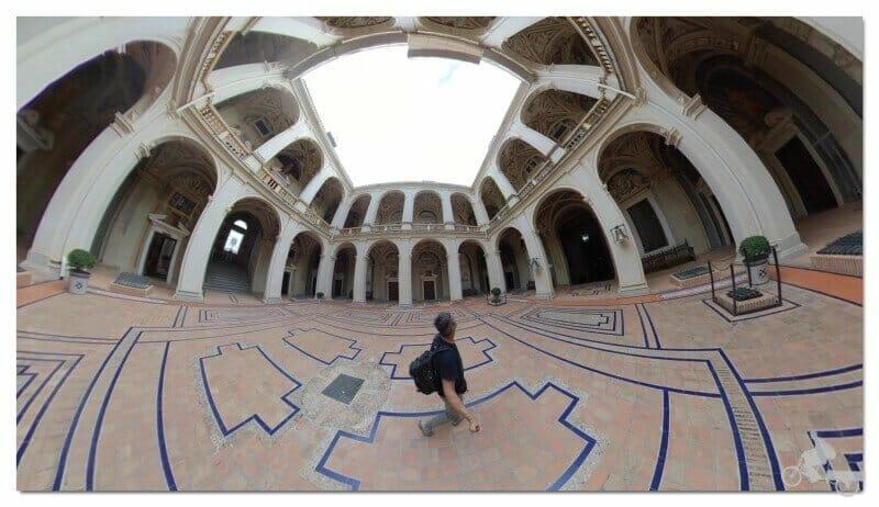 patio de Armas del palacio de Marqués de Santa Cruz