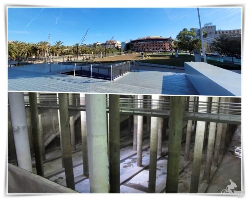 Depósito de aguas pluviales del parque de Joan Miró