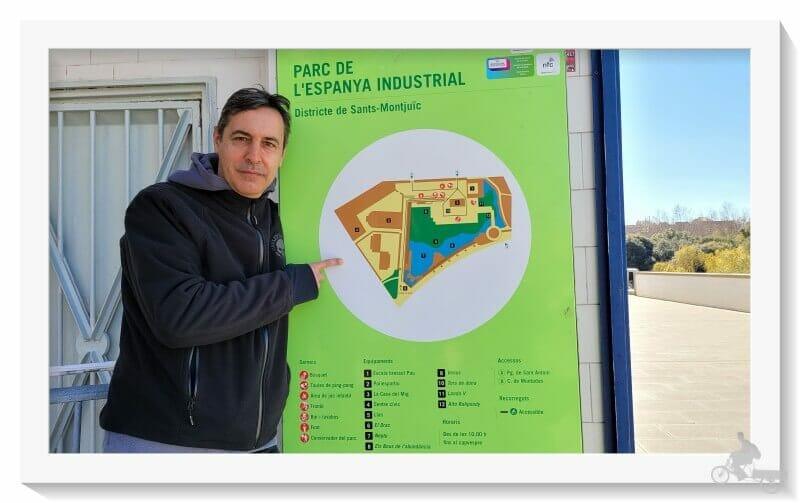 plano del parque de la España Industrial
