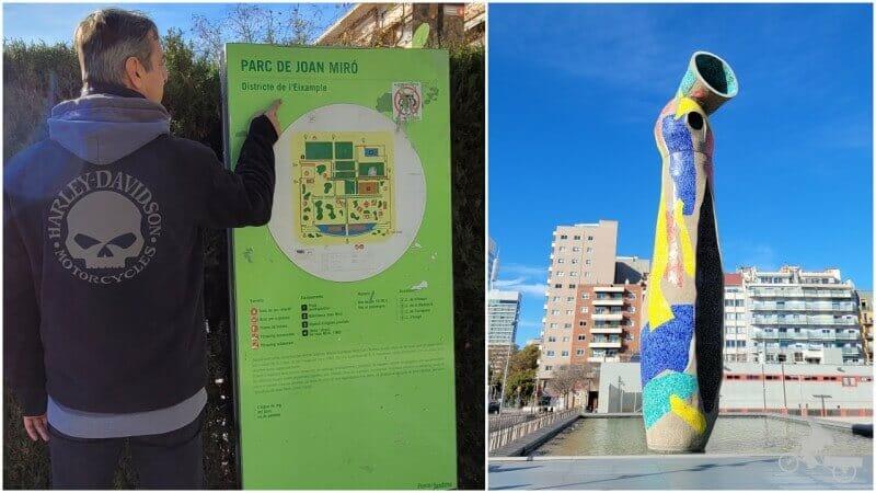 qué ver en el parque de Joan Miró