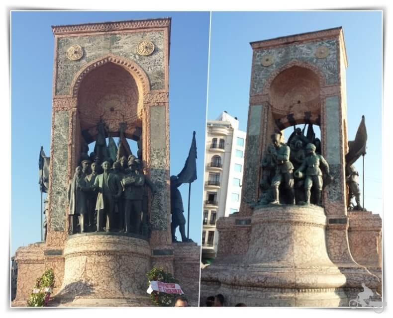 Monumento a la Independencia en plaza Taksim