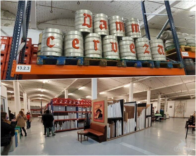sala archivo histórico antigua fábrica cerveza estrella DAMM