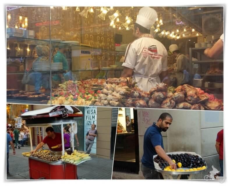 puestos callejeros de Estambul