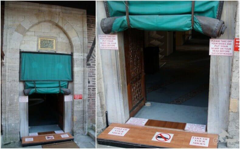 Entrada a la mezquita o antigua iglesia de San Sergio y San Baco