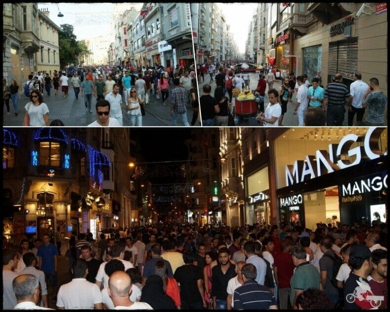 plaza Taksim y calle Istiklal