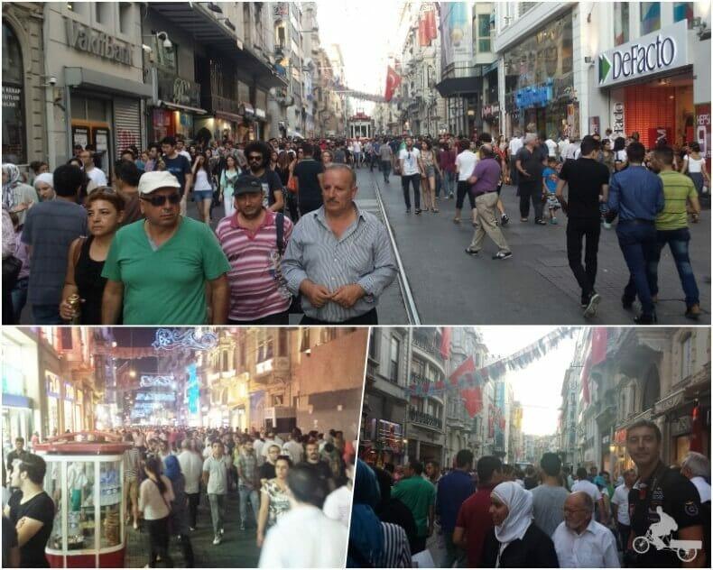 gente calle Istiklal cerca plaza Taksim