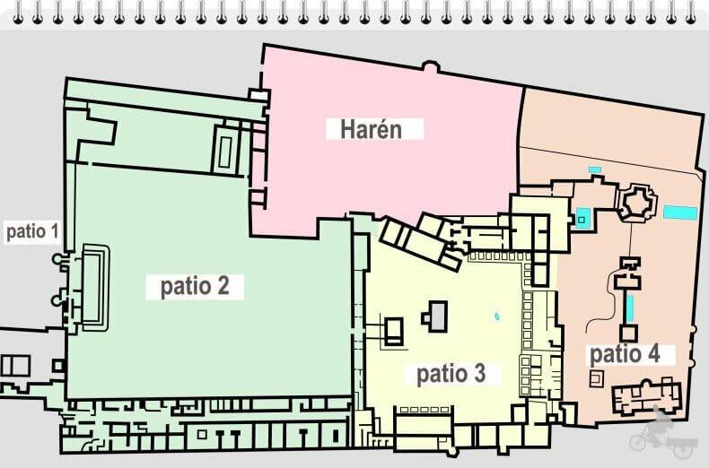 mapa palacio Topkapi estambul