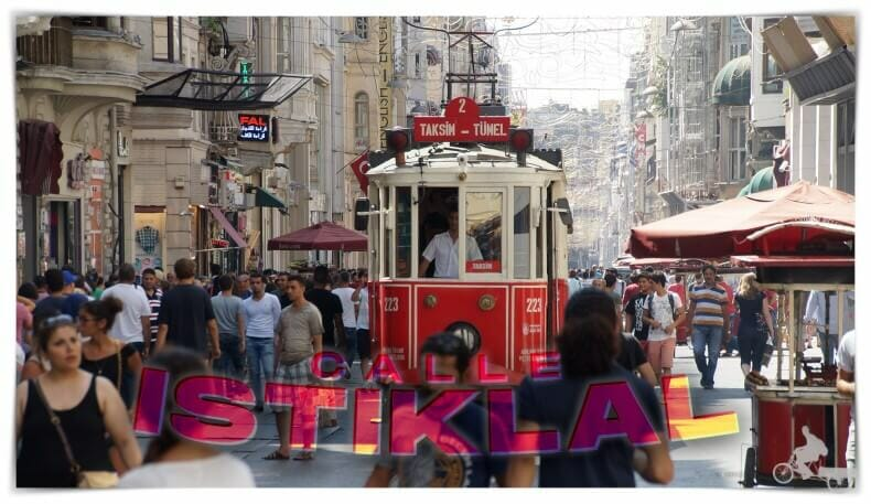 plaza taksim calle istiklal