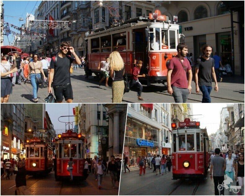 tranvía rojo Estambul