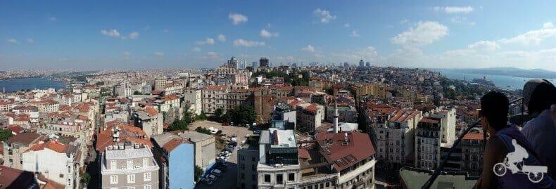 Vistas desde la Torre Gálata de Estambul