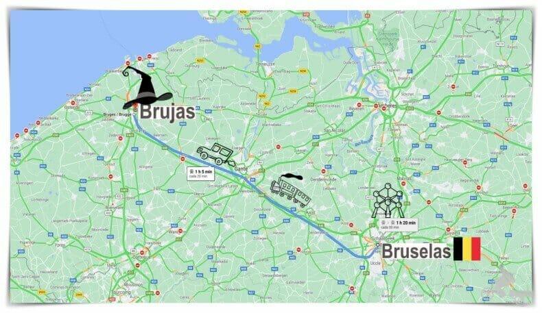 Cómo ir de Bruselas a Brujas
