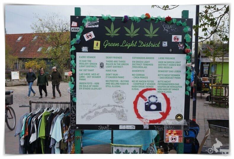 Fristaden Christiania en danés, la ciudad libre de Christiania