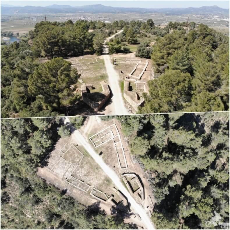 vista aérea de Castellet de Banyoles ibèric
