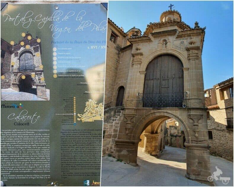 Portalet de Maella y capilla de la Virgen del Pilar