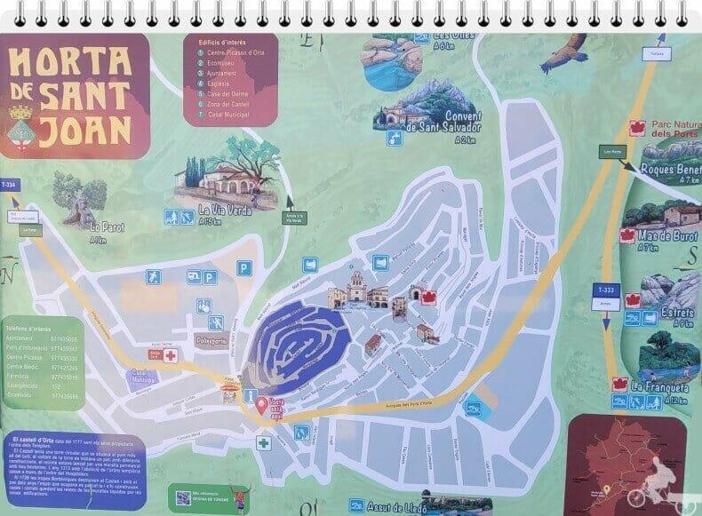 mapa de Horta de sant joan