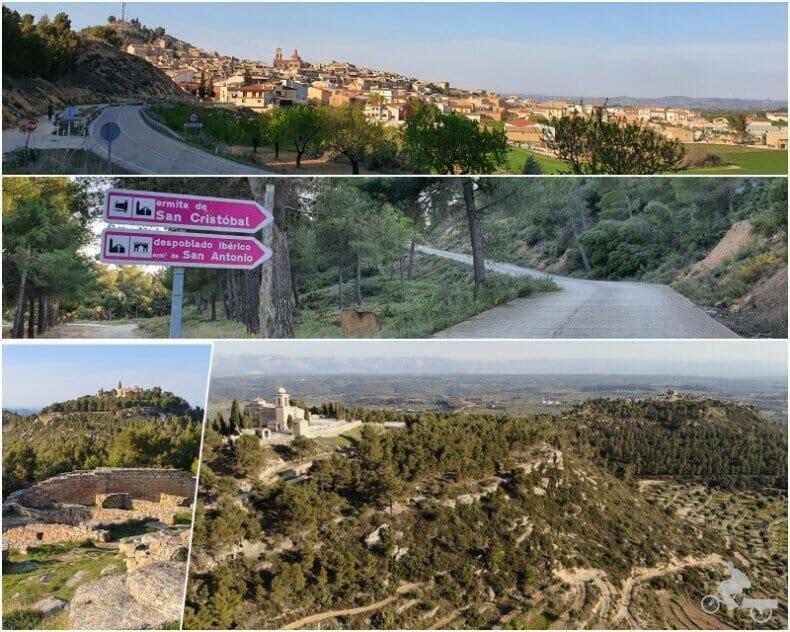 carretera de Calaceite al poblado ibérico y ermita de San Cristóbal