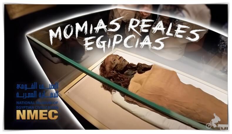 Momias egipcias reales del museo NMEC en el Cairo