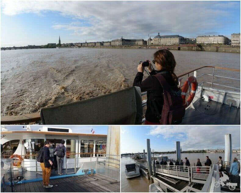 navegar el río Garona en Burdeos