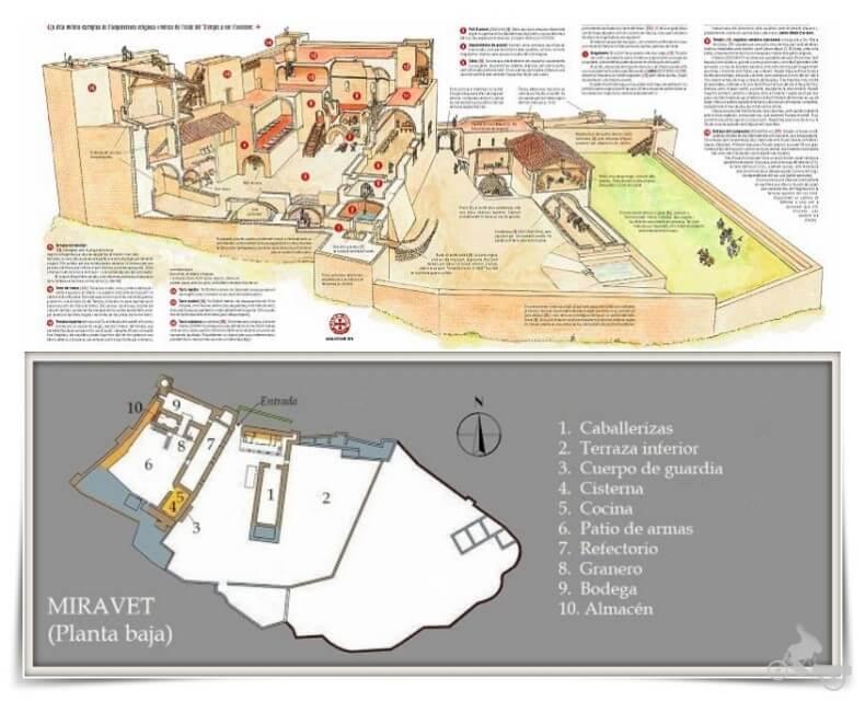 plano castillo de Miravet