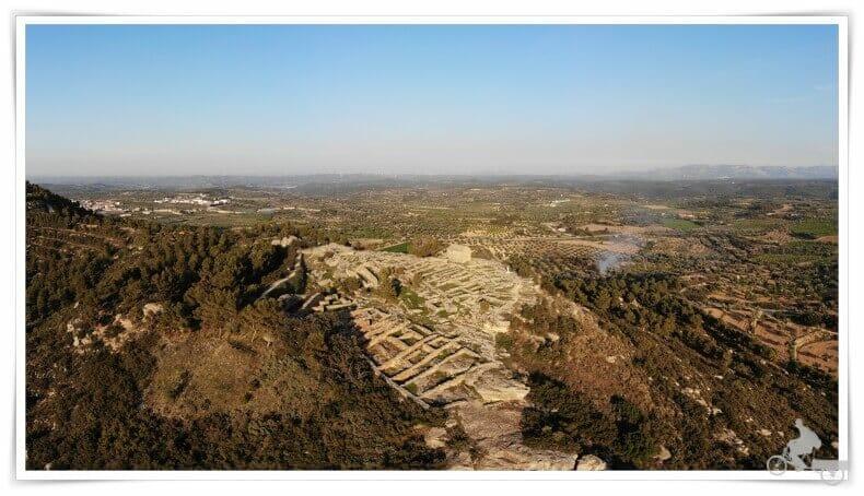 poblado ibérico de San Antonio desde el aire