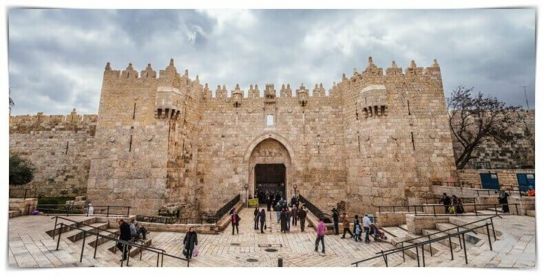 puerta de damasco de Jerusalén