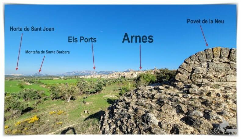 vistas entorno alrededores de Arnes en tarragona