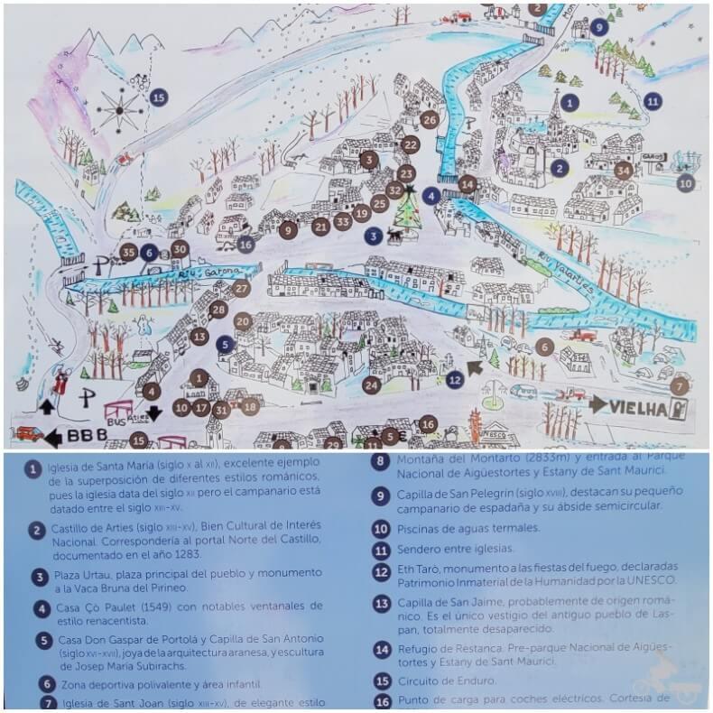 mapa arties