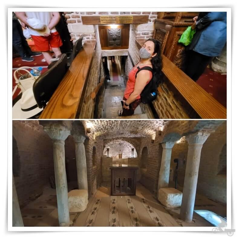 cripta o cueva de la iglesia de San Sergio