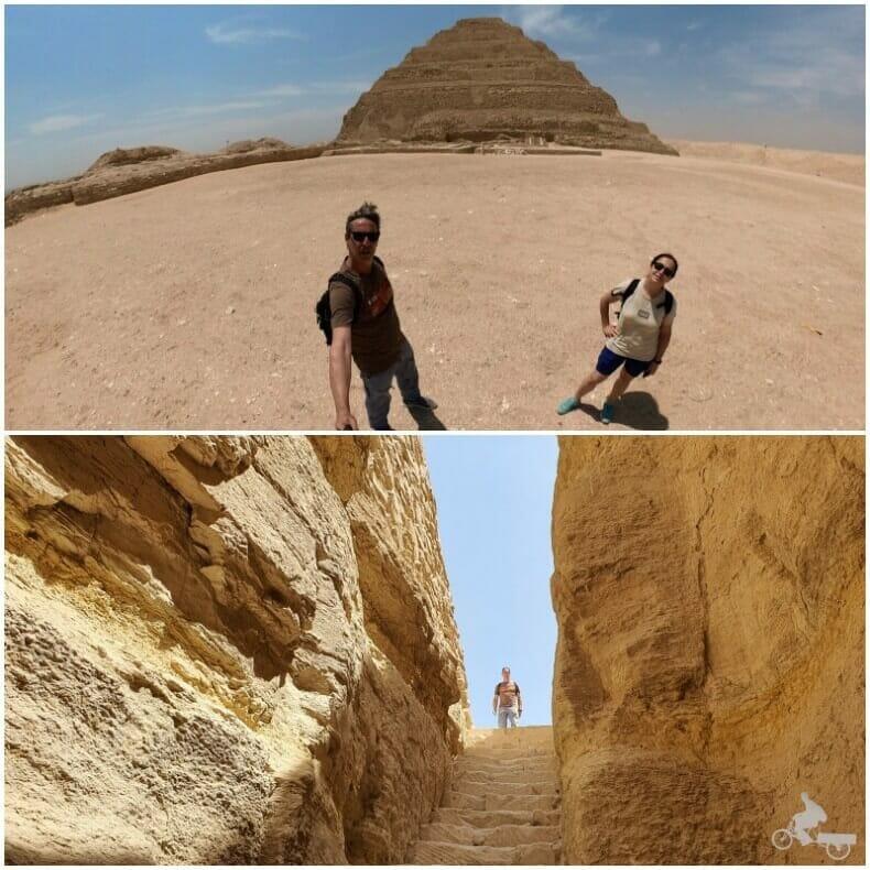 entrada norte de la pirámide de saqqara