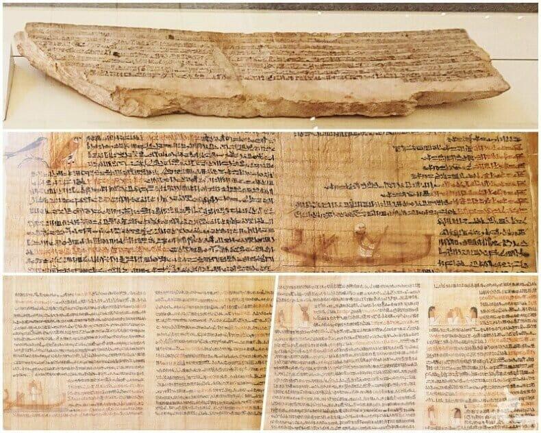 historia de Sinufe el egipcio papiro y ostracon