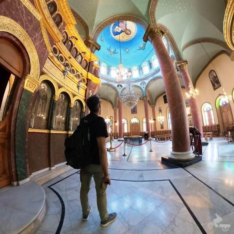 interior iglesia san jorge el Cairo
