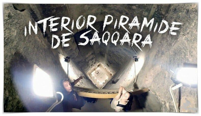 interior de la pirámide de Saqqara