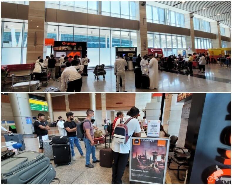 Internet sim aeropuerto de El Cairo