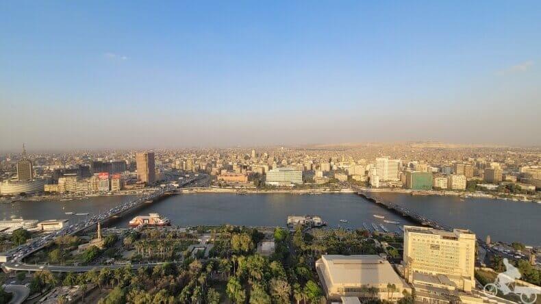 vistas de la capital de Egipto desde las alturas