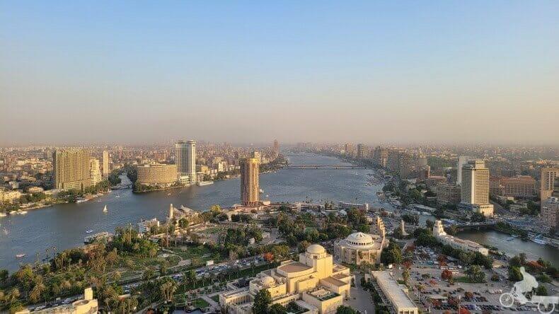 vistas de la capital de Egipto desde lo alto
