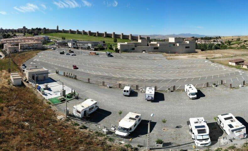 aparcamiento de autocaravanas en Ávila