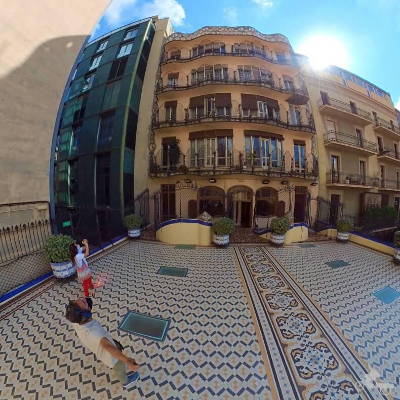 fachada trasera de la Casa Batlló