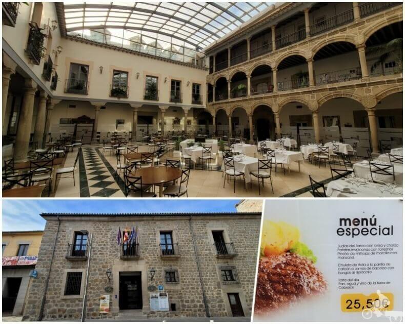 restaurante el Tostado en el palacio de los Velada
