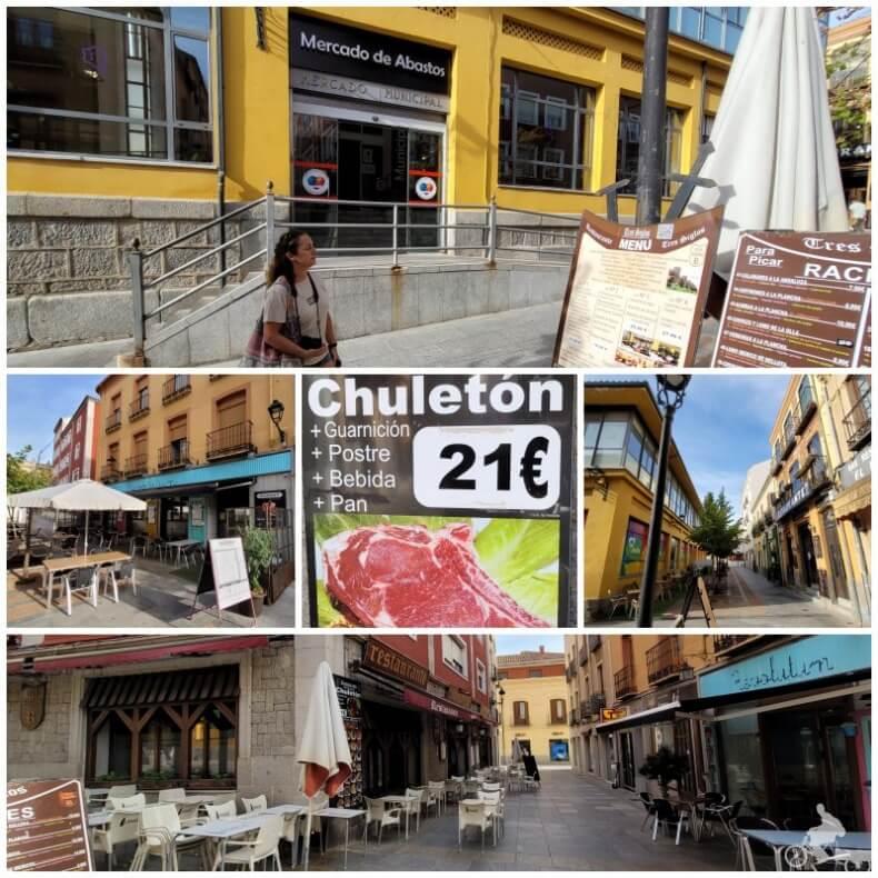 restaurantes de Ávila junto al mercado de Abastos