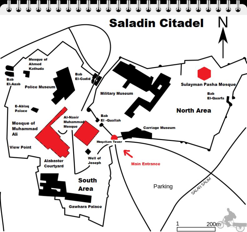 mapa ciudadela cairo