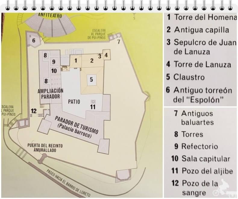 plano castillo de Alcañiz