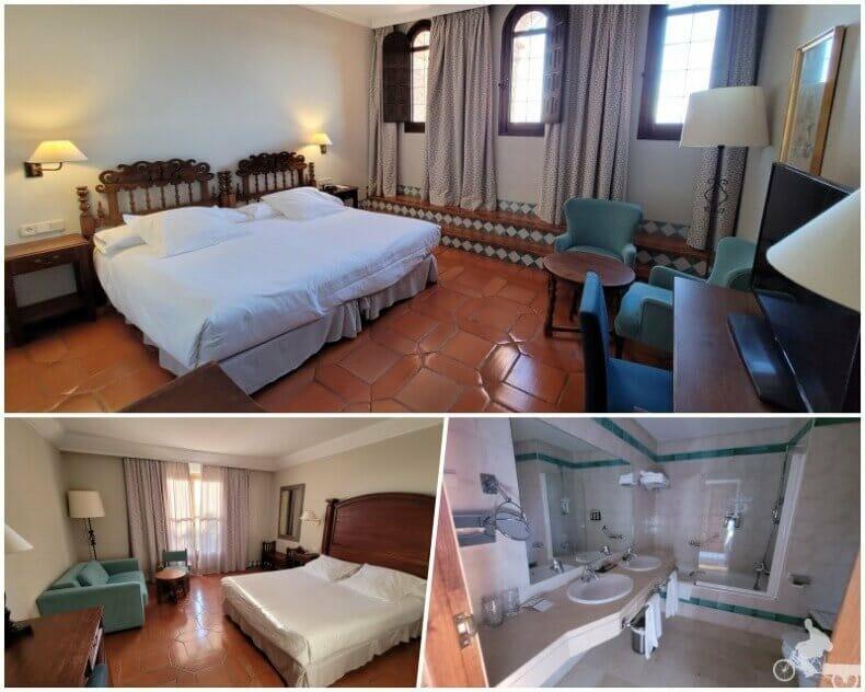 habitación del parador de Alcañiz