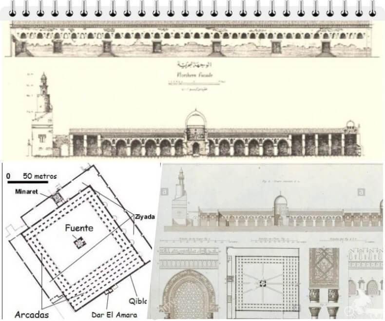 plano mezquita de ibn tulun