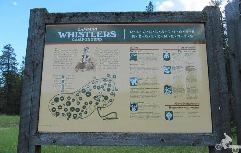 Alojarse en Jasper en el camping Whistlers