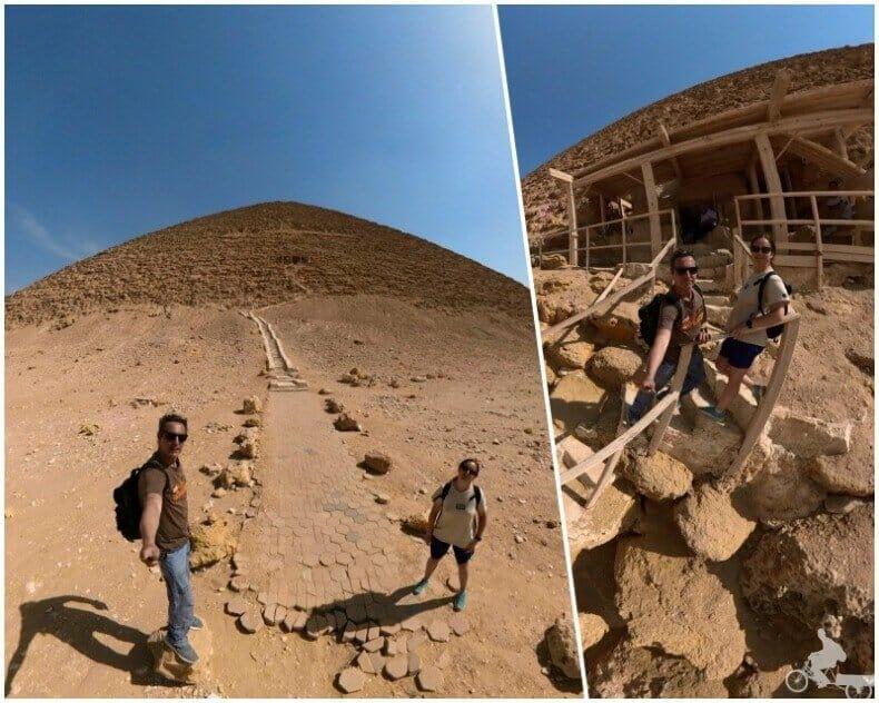 entrada de la Pirámide Roja