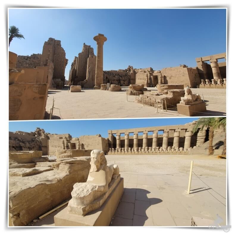 patio porticado del templo de Karnak