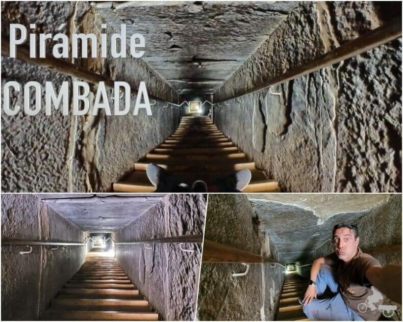 túnel de 79 metros de la pirámide Acodada de Dashur