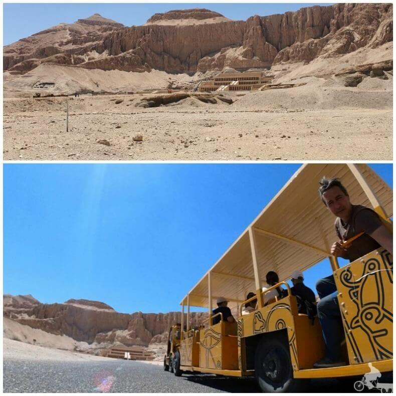 transporte al templo de Hatshepsut
