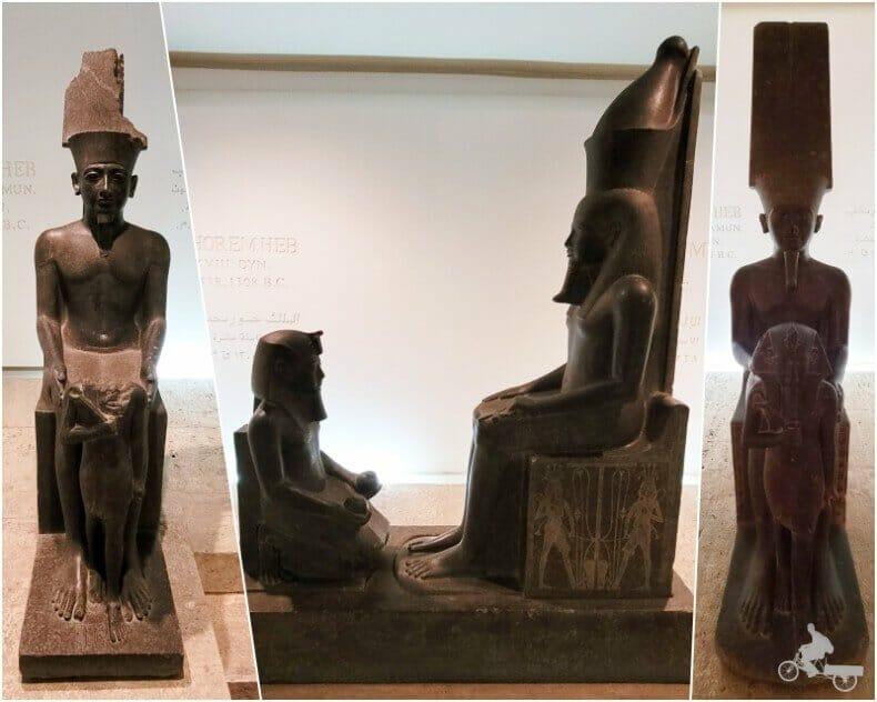 estatuas de Horenheb museo de Luxor